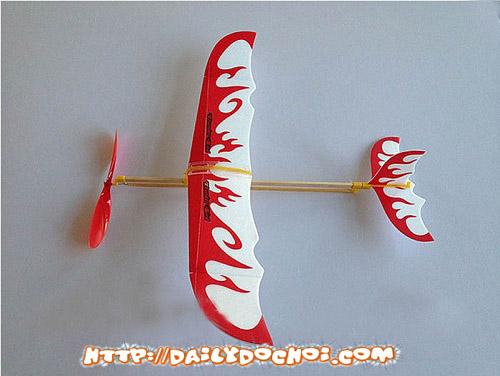 V9 máy bay cánh bằng dây chun đơn giản